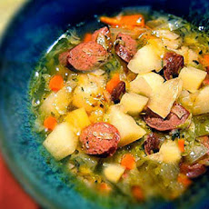 Rustic Irish Potato and Cabbage Soup
