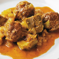 Cook the Book: Braised Goat Meatballs with Artichokes and Fennel