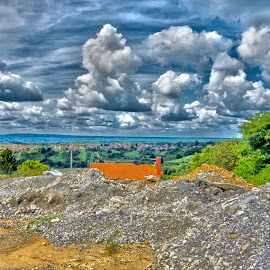 View at Daruvar by Štefan Brajković - Landscapes Cloud Formations ( daruvar, croatia, bjelovar-bilogora county, view )