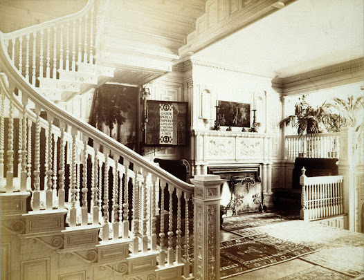 ... and here, in the entryway of Gardner's home at 152 Beacon Street in 1882, before she built and moved to Fenway Court, the building we know as the museum today.