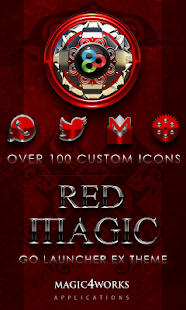 GO Launcher Theme Red Magic - screenshot