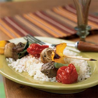 Beef and Vegetable Kebabs