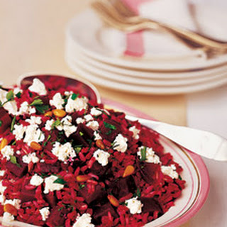 Beet and Brown Rice Salad with Goat Cheese