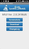 Screenshot of MIUI Rom Downloader