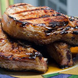 Grilled Teriyaki Chops by Marc Hunter - Food & Drink Meats & Cheeses