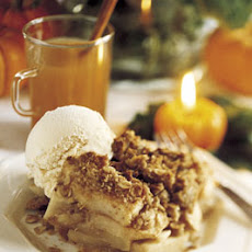Apple Crumble and Vanilla Ice Cream