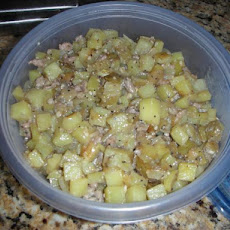 Kielbasa, Potato, and Onion Skillet