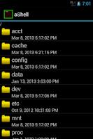 Screenshot of aShell