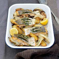 Quick Salmon & Potato Al Forno