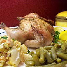Lemon Leek Roasted Cornish Hens