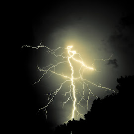 Lightning by Stephen Friedt - Landscapes Weather ( bolt, weather, electricity, storm )