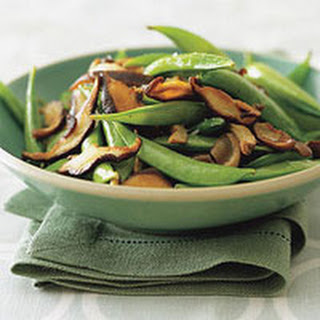 Sugar Snap Peas with Frizzled Mushrooms