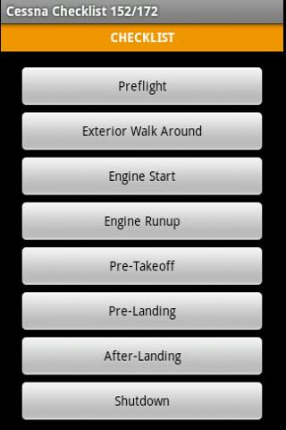cessna-172-checklist for android screenshot