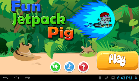 Fun Jetpack Pig - screenshot