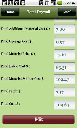 Drywall Pro Estimator - screenshot