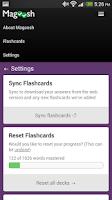 Screenshot of GRE Flashcards