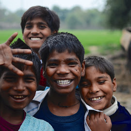 Village kids by Chris Bannocks - People Group/Corporate ( happy, village kids, india, kids )