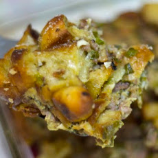 Pizza-Flavored Thanksgiving Stuffing (or Dressing)