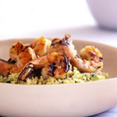 Couscous Salad with Grilled Shrimp Scampi