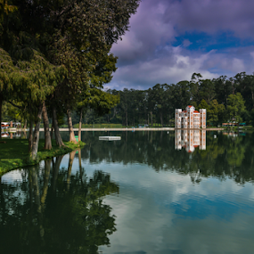 Chautla Castle by Cristobal Garciaferro Rubio - City,  Street & Park  City Parks ( chautla, water, reflection, puebla, trees, reflections )