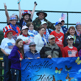 Butterflies for Hope Relay For Life by Ernie Easter - News & Events Health ( happy, people )