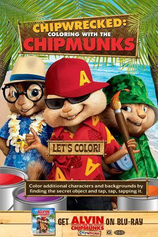 Chipwrecked: Chipmunk Coloring