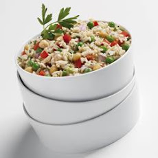 Chilled Asiago Rice Salad