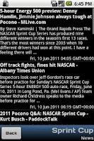 Screenshot of Nascar Info