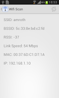 Screenshot of WIFI Scan