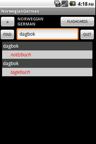 Norwegian German dictionary