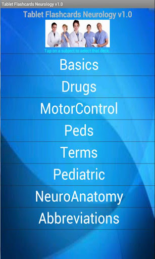 Tablet Flashcards Neurology