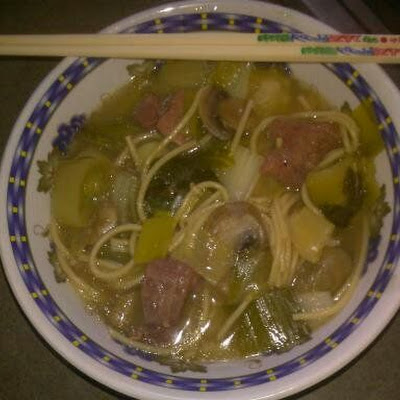 Chinese Beef Noodle Soup w/Greens