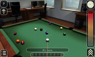 Screenshot of 3D Pool game - 3ILLIARDS