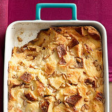 Challah & Honey Bread Pudding with Custard Sauce