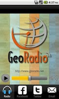 Screenshot of GeoRadio El Salvador