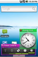 Screenshot of Widget Window