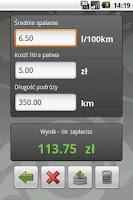 Screenshot of PaliKalk - Kalkulator paliwowy