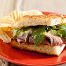 Piedmontese Roast Beef with Pickled Ramp Aïoli