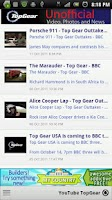 Screenshot of TopGear Videos Photos and News
