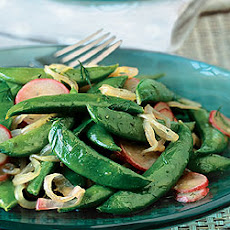 Sauteed Radishes and Sugar Snap Peas with Dill