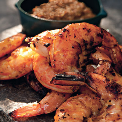 Grilled Shrimp with Fiery Lemongrass-Chile Sambal