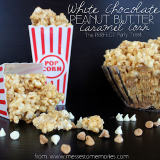 WHITE CHOCOLATE PEANUT BUTTER CARAMEL CORN