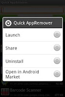Screenshot of Quick AppRemover