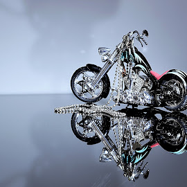 moto by Iulian Cahul - Artistic Objects Toys ( harley davidson, motor,  )
