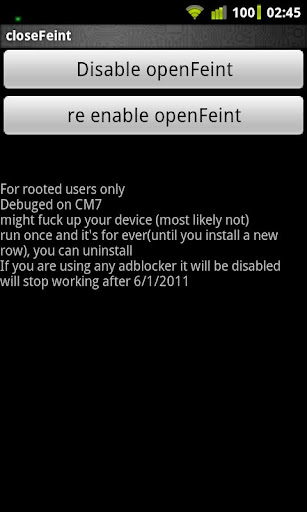 closeFeint- for rooted