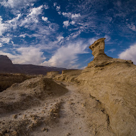The Judaean Desert by David Solodar - Landscapes Deserts ( clouds, nature, travel, landscape, the judaean desert )