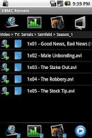 Screenshot of XBMC / Boxee Remote
