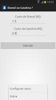 Screenshot of Etanol ou Gasolina ?