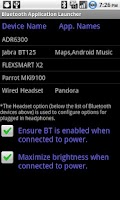 Screenshot of Bluetooth App. Launcher (Paid)