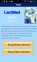 Screenshot of LactMed